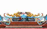 Chinese dragons on the roof of temple