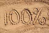 100% written on a sandy beach.