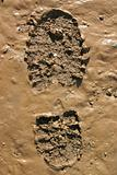 Walker's Boot print in wet mud