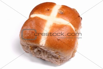 An Easter hot cross bun.