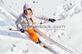 Pretty skier