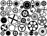 Gear wheel silhouettes