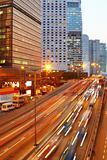 traffic night in city