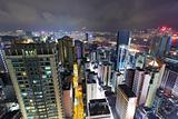 Hong Kong downtown city at night