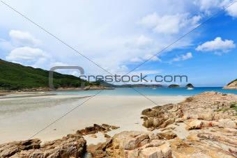 Sai Wan beach in Hong Kong