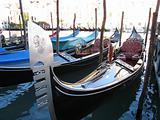 Gondolas in Venice, City of Romance