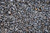 Railroad track ballast close-up