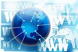 Internet and world wide web connections concept picture
