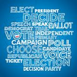 Election campaign button background