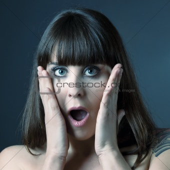 Astonished woman