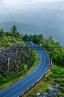 Beautiful curved road on the mountain
