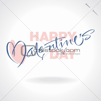 valentine hand lettering (vector)