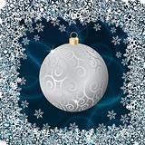 Silver christmas ball