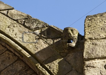 Waterspout Gargoyle In Abbey