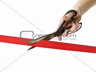 Cutting Red Ribbon