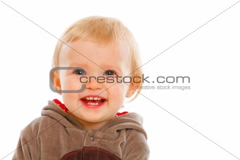 Portrait of smiling lovely baby