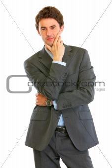 Portrait of confident modern businessman