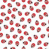 Seamless ladybug pattern
