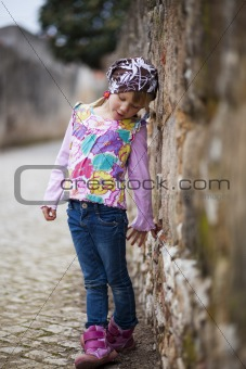 Little girl outdoors