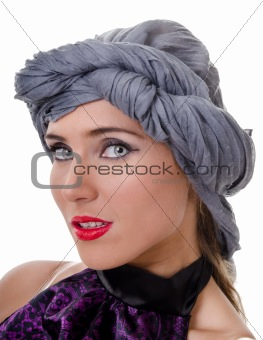 Portrait of woman in a turban