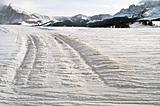 Snow white tracks