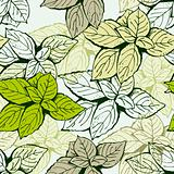 Seamless leaf floral pattern