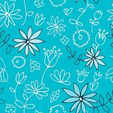 Fresh blue floral pattern