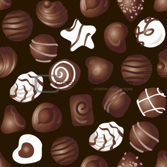 Candy chocolate pattern