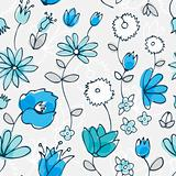 Blue little flower seamless pattern