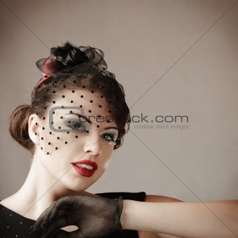 Retro style woman portrait