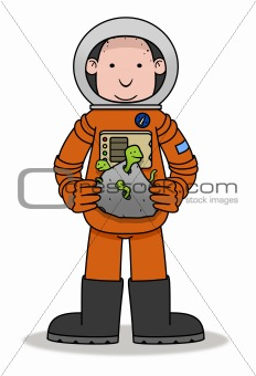Astronaut and Aliens