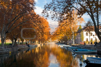 Annecy Canal Fall Colors