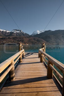 Alps Lake Pier Vertical