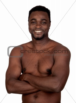 Attractive african man with bare chest