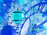 blue toned beautiful scene of christmas