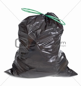 tied garbage bag
