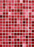 Red and pink small tiles background.