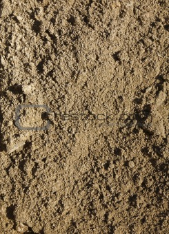 Close up of soil dug up from a garden.