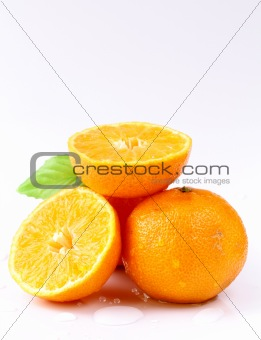 Fresh juicy tangerine, mandarin orange