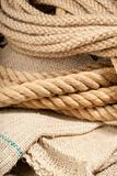 Twin brown ropes