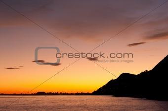 Alicante at dusk