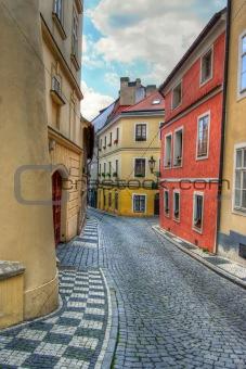 Prague alleyway