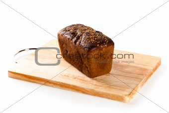 fresh bread on the wooden board