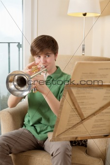 Trumpet practice at home