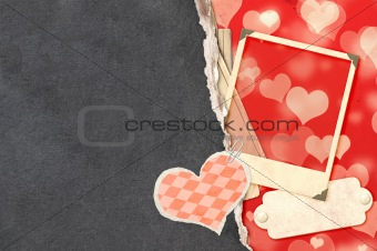 Grunge valentine background