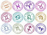 Star sign stamps