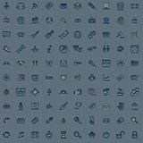100 professional grey web icon set
