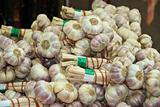 Cloves of garlic at a french market