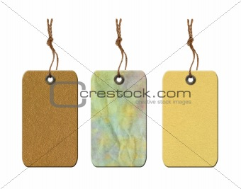 Blank old tag isolated on white