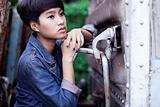 fashion portrait asian girl
